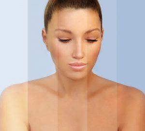 Bild Frau in verschiedene Brauntönen