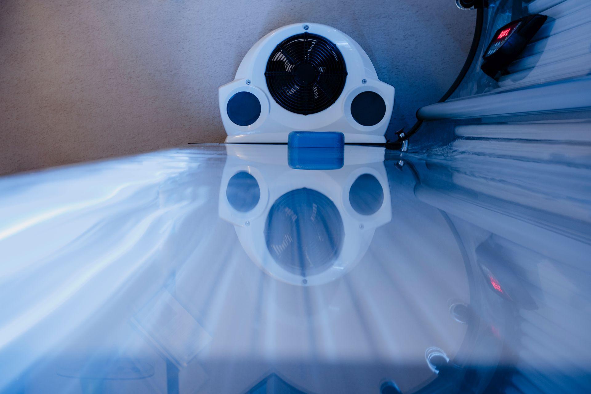 Bild einer Liegefläche eines Solariums